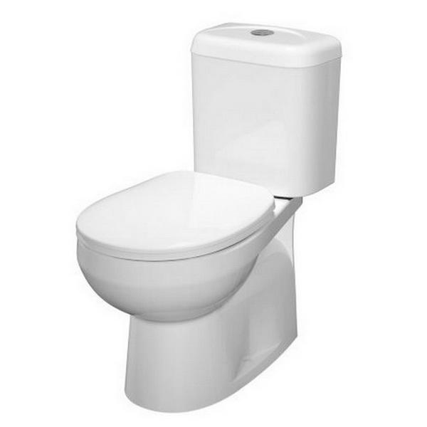 Prima LI Dual Flush Close Coupled Toilet Suite 4.5/3L 365 x 665 x 760mm Wall Faced P Trap Vitreous China White