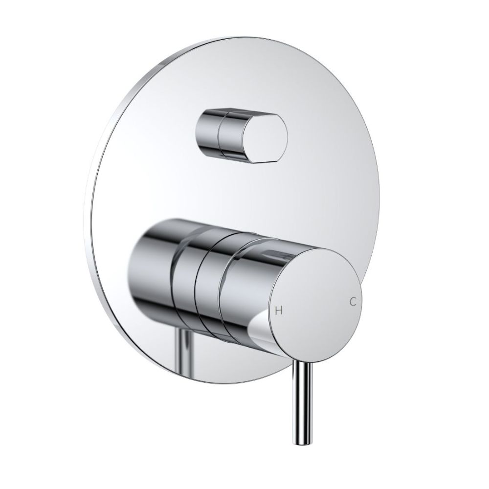 Round Pin Wall Mixer with Diverter Chrome CL10028.C