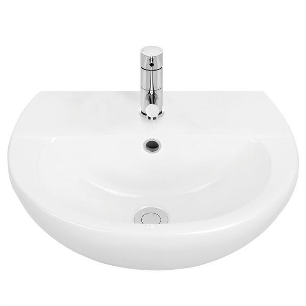 Venecia 450 Series Round Wall Basin White 3.95L 198 x 370 x 450mm