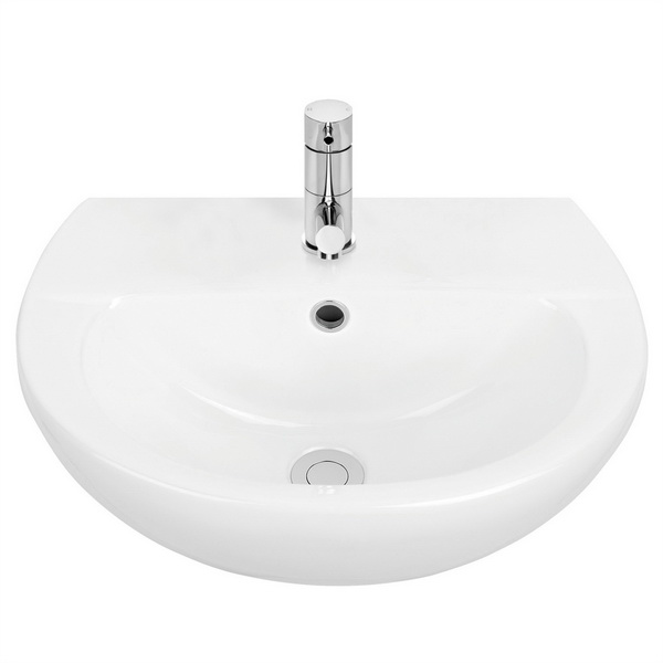 Venecia 450 Series Round Wall Basin White 3.95L 198 x 390 x 500mm