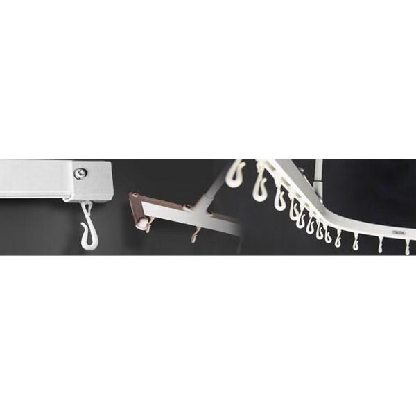 Mactrac Left Hand Bath Track 1800 x 900mm White M20BS04W