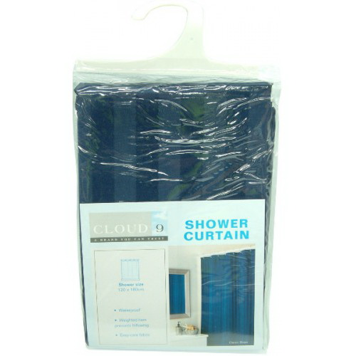 Plain Waterproof Shower Curtain 1800 x 1200mm Marine Navy