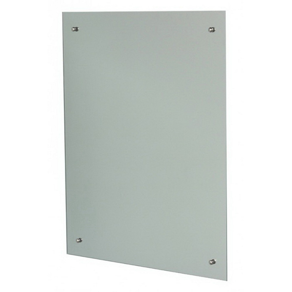 Mirrox Polished Edge Mirror with Holes 1200 x 900mm Silver 4836PEMHC