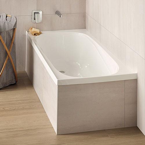 Bath 1655 x 740 x 405mm White Anti Slip Tread Pattern 0108000006