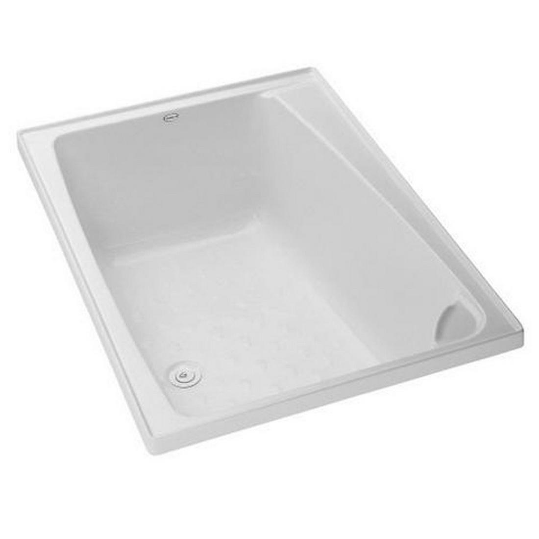 Compact Rectangular Bathtub 1200 x 820 x 440mm White 120000006