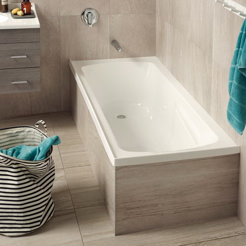 Framed Bath 1655 x 740 x 420mm White 5900013