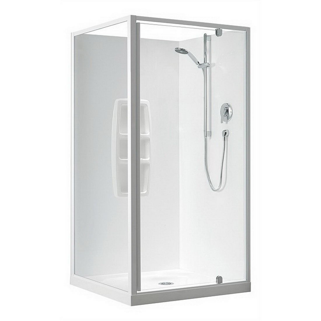 Sierra 900 x 900mm 2 Sided Square Mould Shower Enclosure White