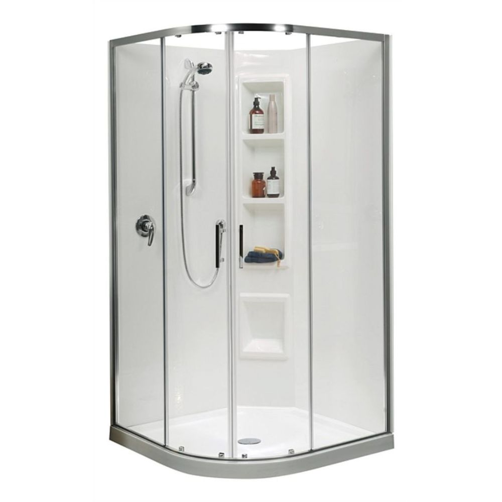 Cezanne 1000 x 1000mm Round Moulded Shower