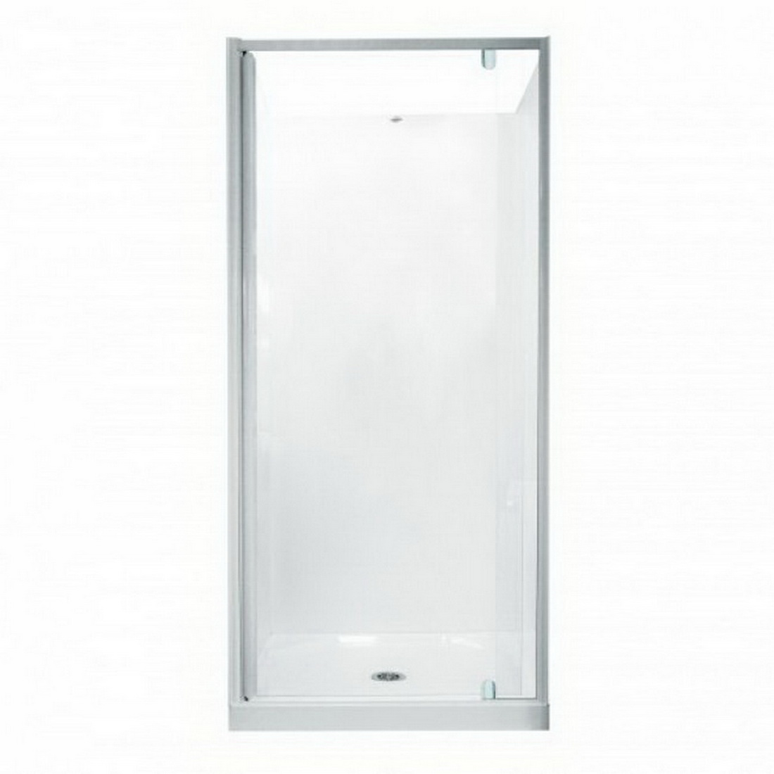 Trombone 840mm Shower Door White