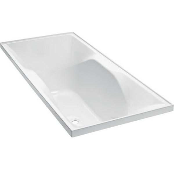 Studio II Rectangular Bath 1800 x 760mm White