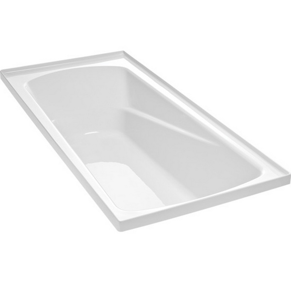 Duo II Rectangular Bath 1670 x 760mm White