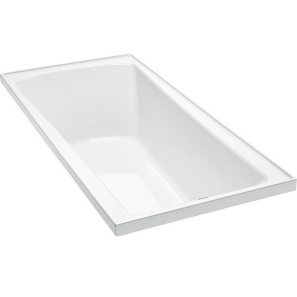 Valencia Rectangular Bath 1670 x 760mm White Without Frame