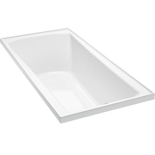Valencia Rectangular Drop-In Bathtub Without Frame 1520 x 760 x 420mm Duracryl Acrylic White
