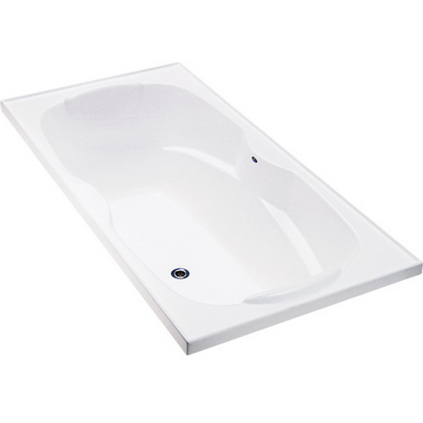 Sapphire Rectangular Drop-In Bathtub 1800 x 900 x 540mm Duracryl Acrylic White