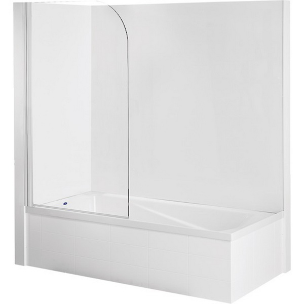 Sapphire Bath Screen Shower Door Chrome 800 x 1420mm