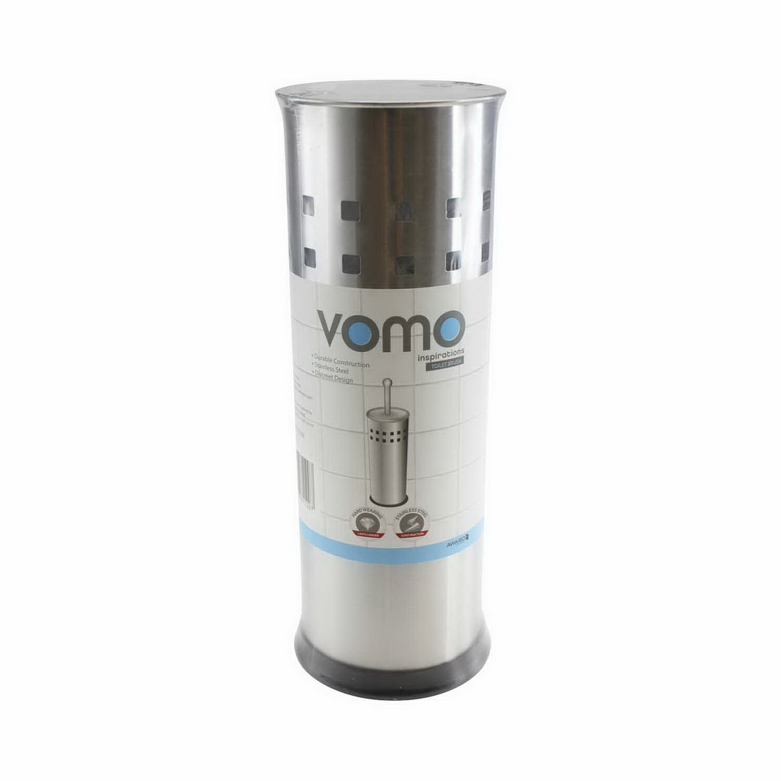 Vomo Inspirations Toilet Brush Holder Stainless Steel