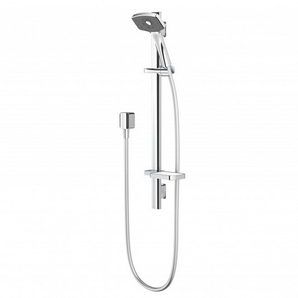 Waipori Satinjet Rail Shower Chrome/Graphite Slide