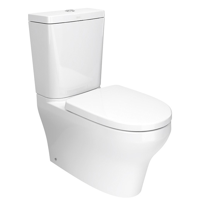 Robertson Cygnet Neu Square Cistern Back to Wall Bottom Inlet Toilet Suite 845 x 380 x 680mm White 12747.1