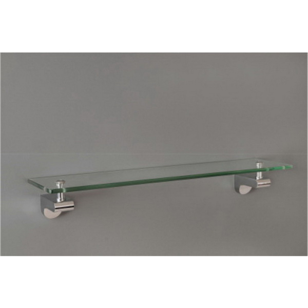 Lania Glass Shelf 522 x 20mm Chrome Plated