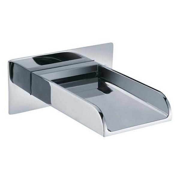 Cascata Free Flow Bath Spout 150 x 120mm Chrome