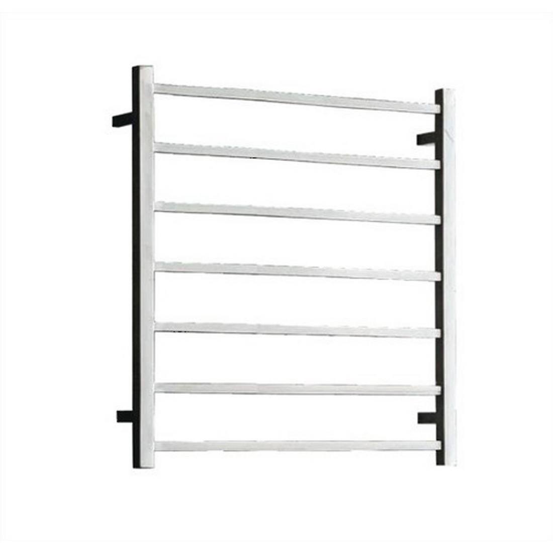 Newtech Square Heated Towel Rail Ladder 800 x 600 x 122 mm Mirror Polished 7 Bars 82 W ST75