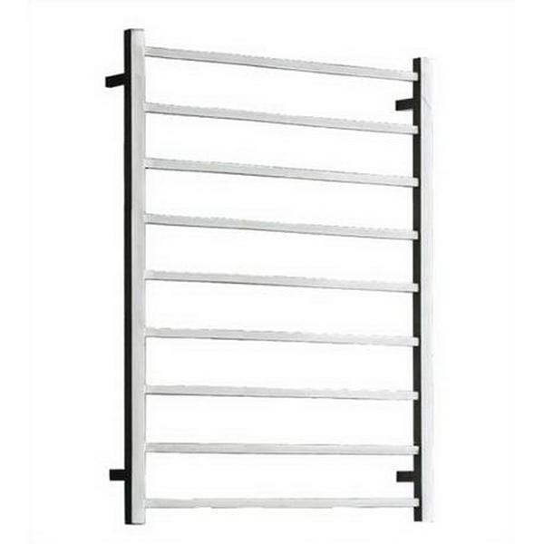 Sqr Heated Towel Rail Ladder 1060 x 600 x 122mm 9 Bars 107W