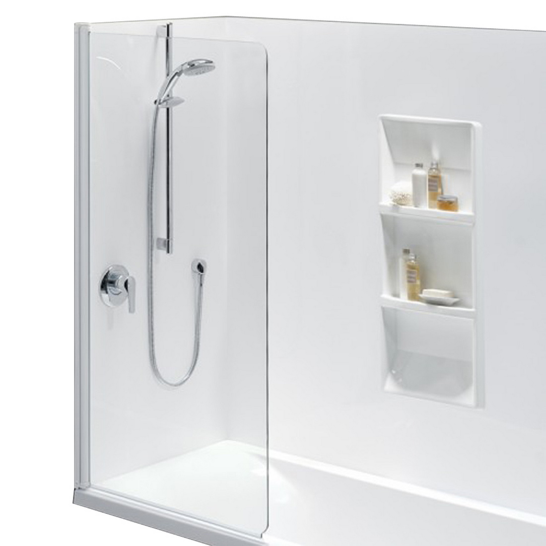 Standard Pivoting Swing Panel 900 x 1500 mm White No Bath Upstand 10090095