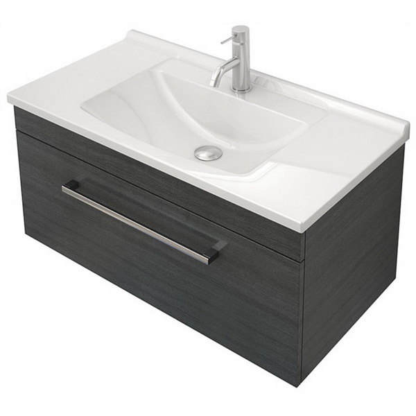 Classic 750 Series Wall Hung Vanity Woodgrain 1 Drawer