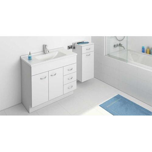 Pure Floor 900 Freestanding Vanity Wh 3 Drawer 2 Door