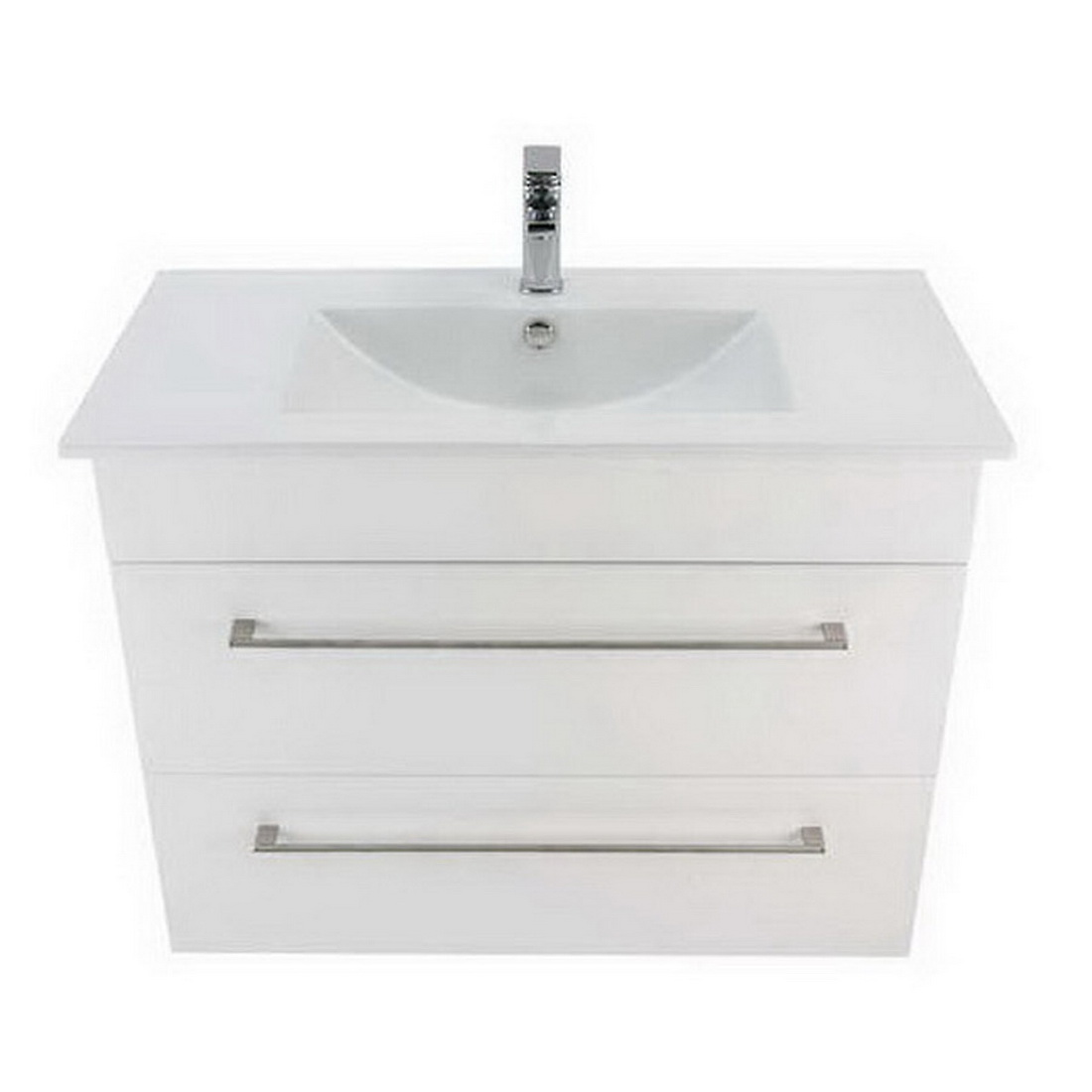 Montana Citi 2 Drawer Wall-Hung Vanity 900mm Gloss White