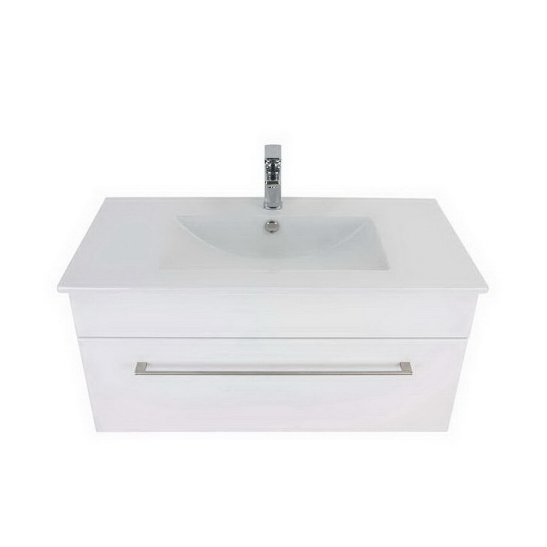 Montana Citi Ceramic Wall-Hung Vanity 900mm Gloss White