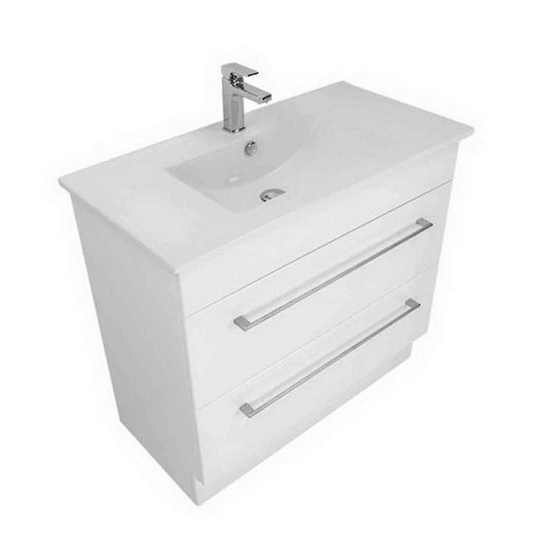 Montana Citi Ceramic Floorstanding Vanity 900mm Gloss White