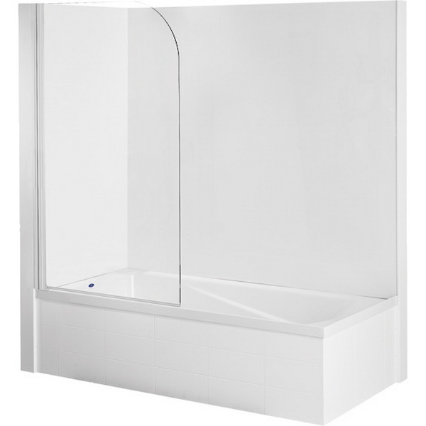 Duo LI Combo Rectangular Shower Over Bath 1520 x 750mm White