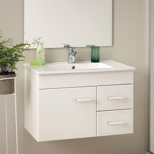 Classic Floorstanding/Wall-Hung Vanity 750mm White Melamine 4CAS075CM