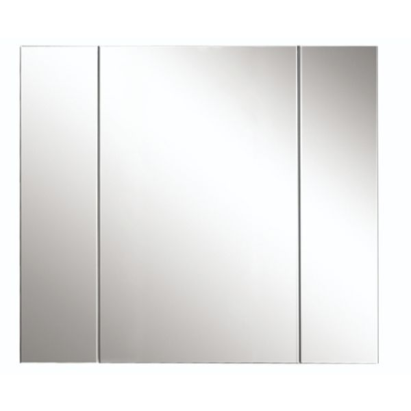 Avon 900mm 3 Door Mirror Cabinet Gloss White