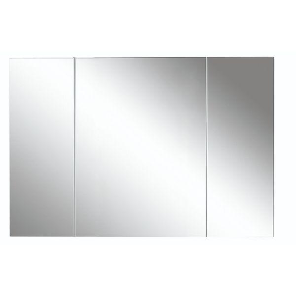 Avon 1200mm 3 Door Mirror Cabinet Gloss White