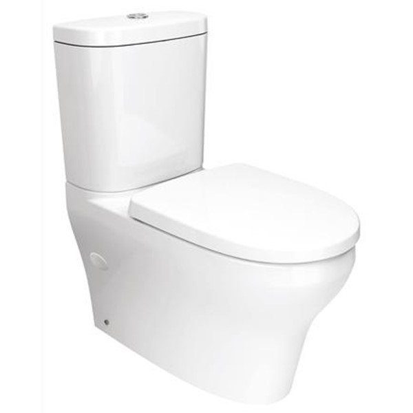 Mila Comfort Dual Flush Back to Wall Toilet Suite 4.5/3L 371 x 660 x 820 mm Vitreous China White