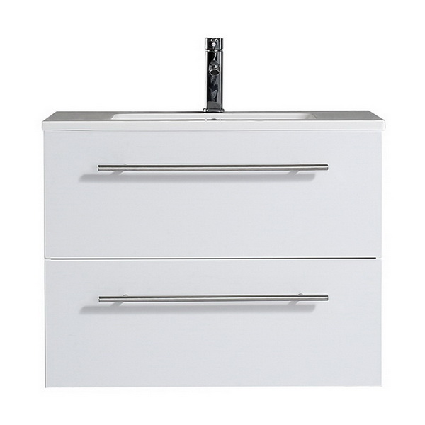 Brighton 750 Series Wall Hung Vanity White Gloss 750mm 2 Drawer