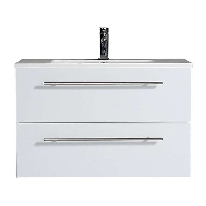 Brighton Vanity 900 Wall Hung Vanity White Gloss 900mm 2 Drawer