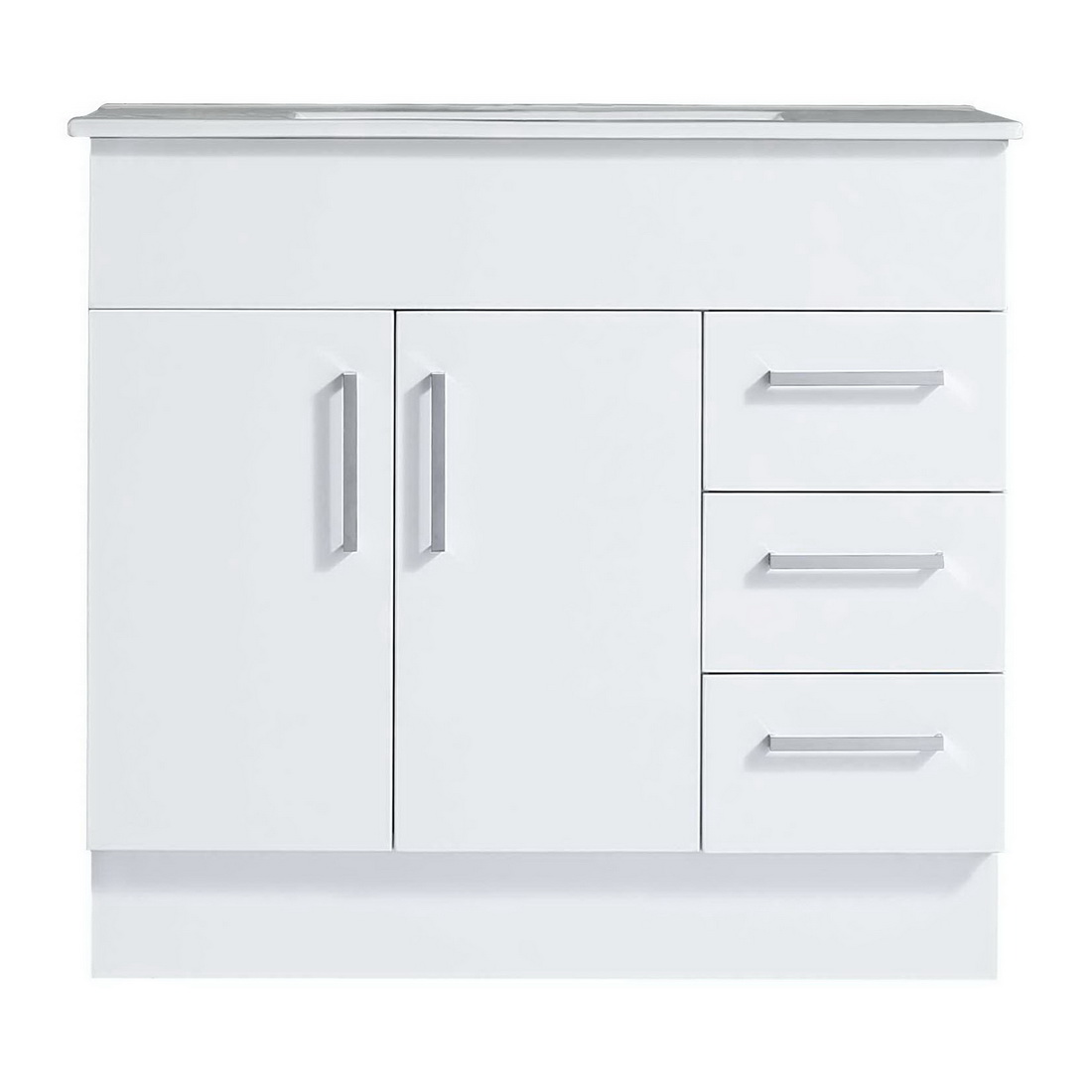 Projex 900 Floor Standing Vanity White Gloss 3 Drawer 2 Door