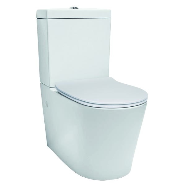 Edge Slim Seat Back to Wall Toilet Suite Vitreous China
