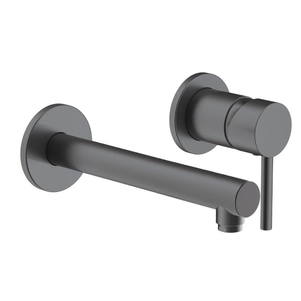 Carlton Wall-Mounted Main Pressure Bath Filler Black