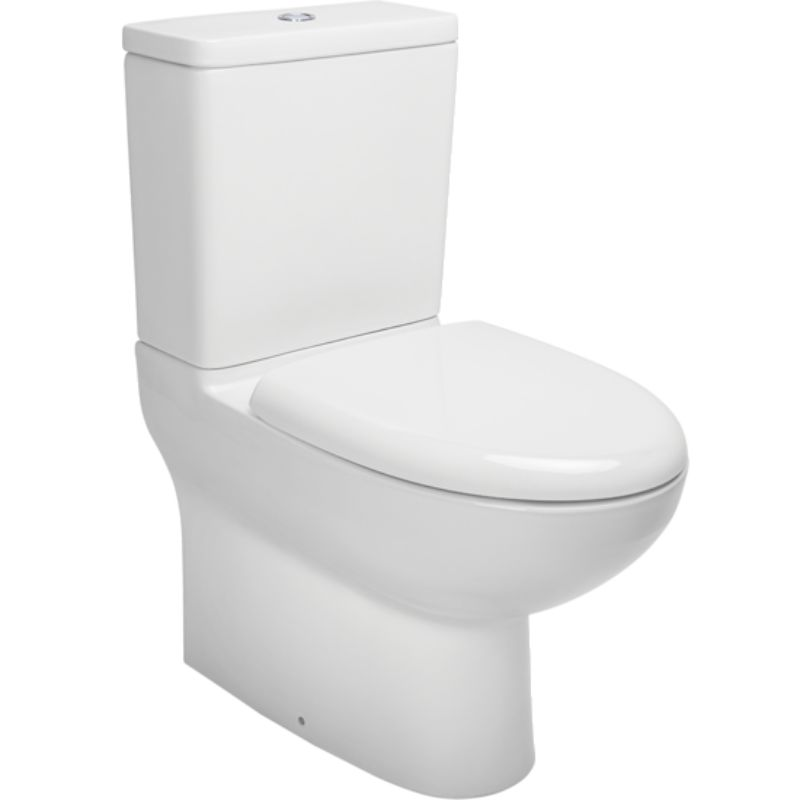 Milano Back To Wall Toilet Suite 850 x 378 x 655mm White