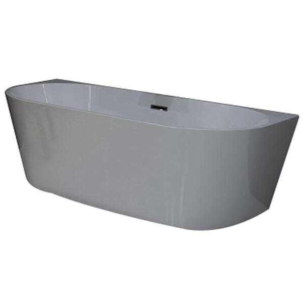 Sol Freestanding Round Back To Wall Bath Tub