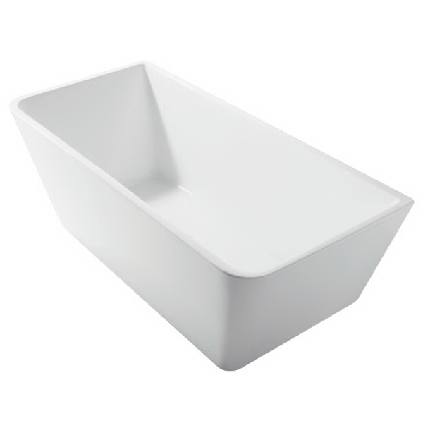 Form Freestanding Soft Square Back to Wall Bath Tub