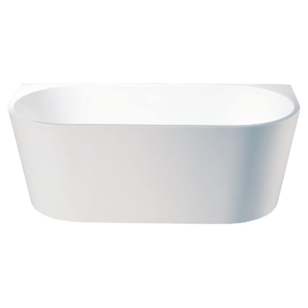 SOL 1500 x 750mm Round Back to Wall Freestanding Bath