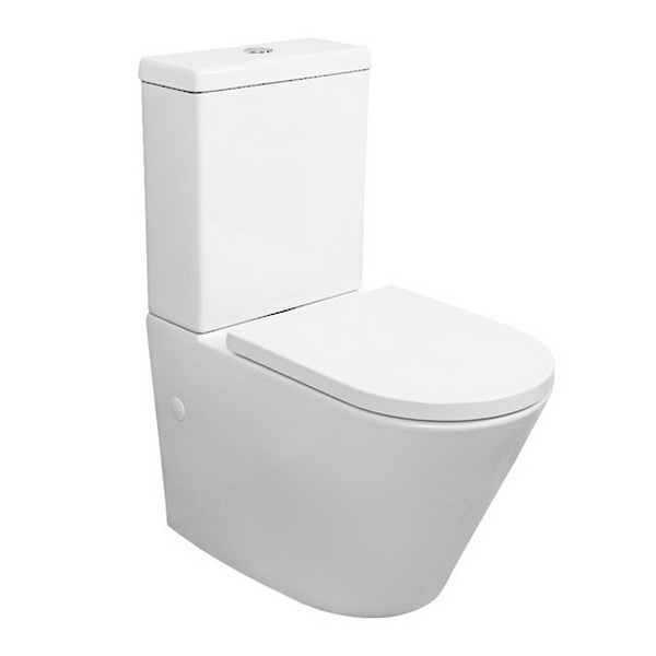 Evora Back To Wall Toilet Suite 4.5/3L 360 x 665 x 860mm P/S Trap Vitreous China White
