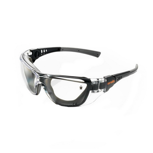 Falcon Safety Glass Black Frame Clear Lens
