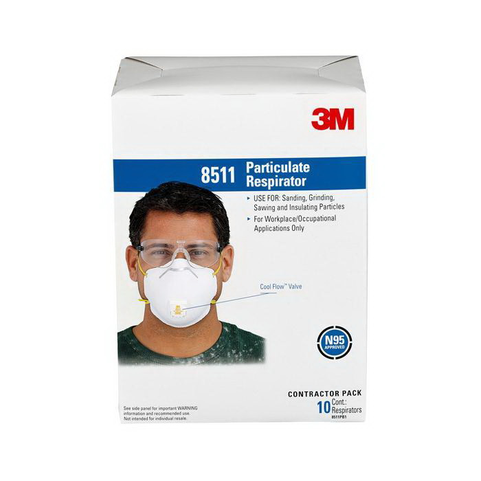 Tekk Pro Particulate Respirator White 10 Pack 8511PB1-A-PS