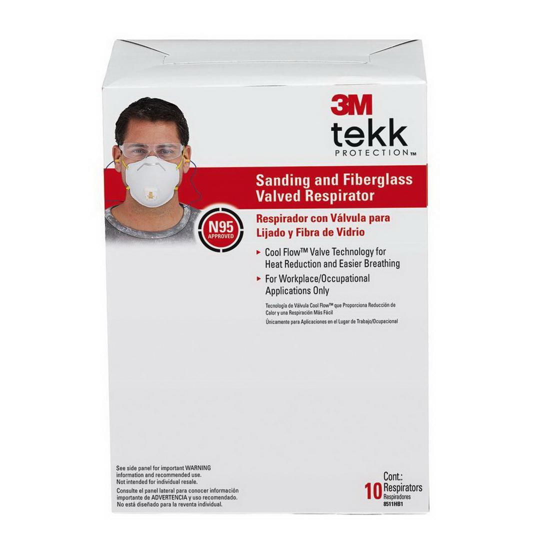 Pro Sanding & Fibreglass Valved Respirator 10 Pack